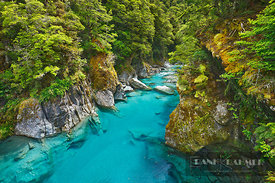 River bed in canyon - Oceania, New Zealand, South Island, West Coast, Westland, Mount Aspiring National Park, Makarora River,...