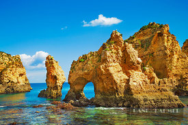Coast impression Ponta da Piedade - Europe, Portugal, Algarve, Lagos, Ponta da Piedade - digital