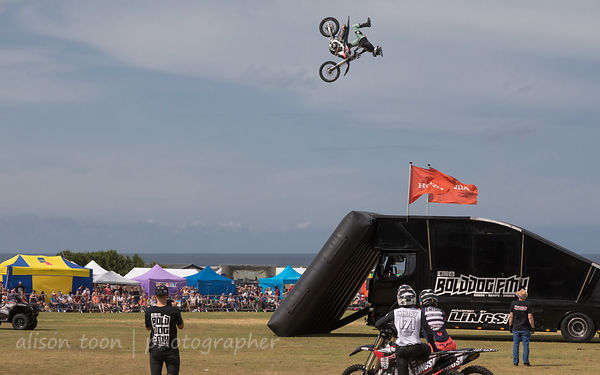 Freestyle motocross at Cromer Carnival
