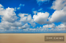 Beach landscape and cumulonimbus clouds - Europe, Netherlands, North Holland, Texel, De Cocksdorp (West Frisian Islands) - di...