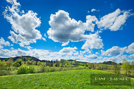 Cloud impression in spring - Europe, Germany, Bavaria, Upper Bavaria, Miesbach, Seehamer See - digital