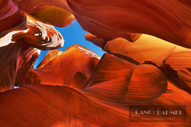 Sandstone erosion landscape in Canyon X - North America, USA, Arizona, Coconino, Lake Powell, Page, Canyon X, Lower Part (Col...