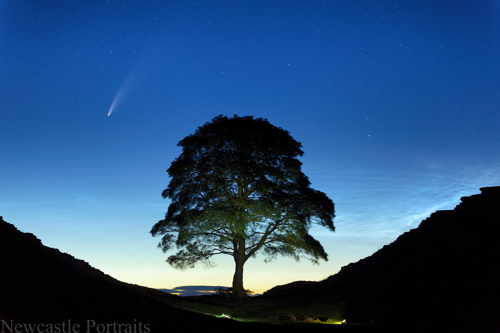Sycamore Gap with Neowise