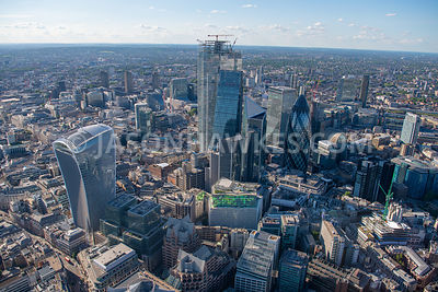 Aerial view of the City of London.