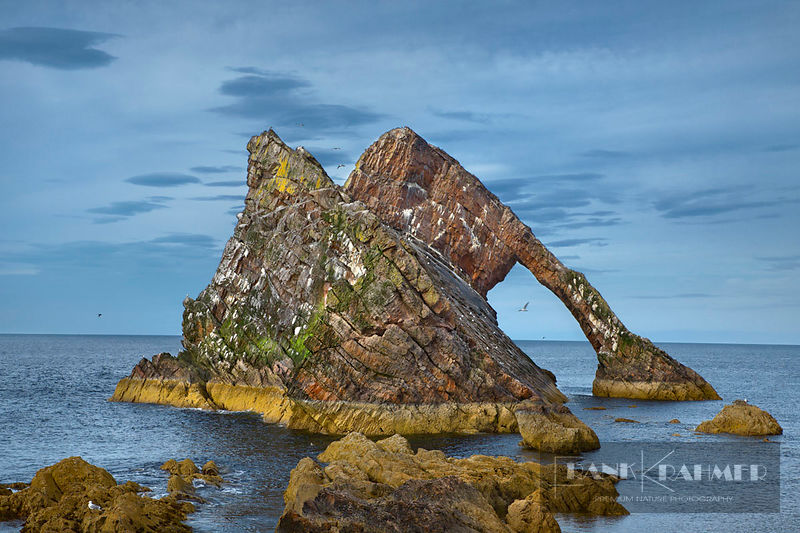 Cliff landscape at Bow Fiddle Rock - Europe, United Kingdom, Scotland, Moray, Portknockie, Bow Fiddle Rock - digital