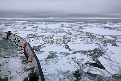Sea ice in Weddell Sea from polar cruise ship Ortelius at Latitude S63°33', Longitude W56°16', Antarctic Peninsula,  Antarctica