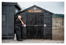Closing the Rothes FC club shop for the summer.