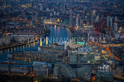 Aerial view of Battersea, Battersea Power Station, Nine Elms and Vauxhall, London.