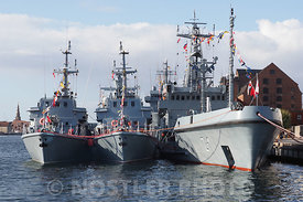 ORP Bałtyk and two smaller ships