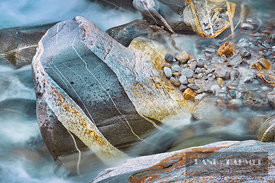 Stone structure in river Verzasca - Europe, Switzerland, Ticino, Valle Verzasca, Brione Verzasca (Alps) - digital