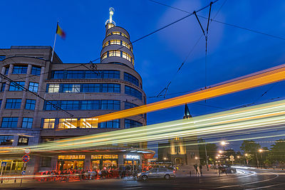 Café Belga and Tram 1, Place Flagey, Brussels