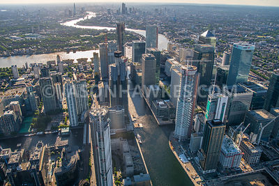 Aerial view South Dock, Canary Wharf.
