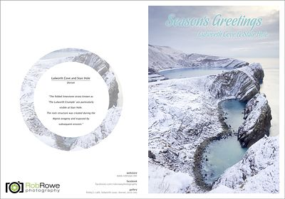Seasons Greetings Lulworth Cove & Stair Hole