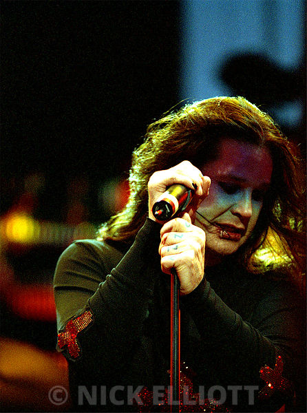 Ozzy Osbourne performing live at Ozzfest 2000