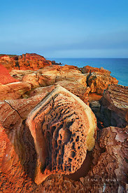 Cliff landscape at Gantheaume Point - Australia, Australia, Western Australia, Kimberley, Broome, Gantheaume Point - digital