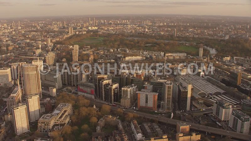 Aerial footage of Paddington, Paddington Bain