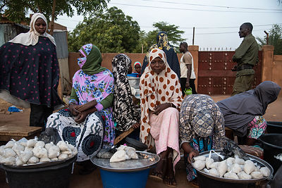 First day of fasting in the Muslim holy month of Ramadan in the Dar Salam district of Niamey, Niger.