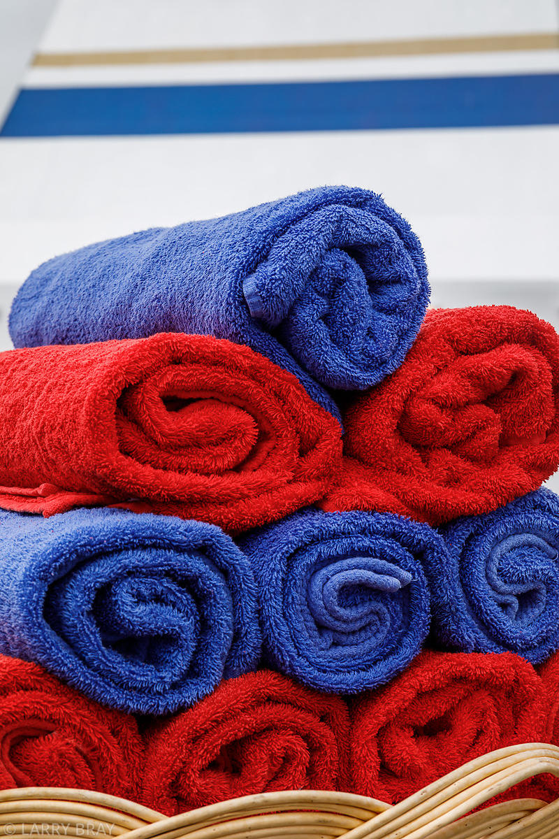 Towels by the pool, at Sea on Aegean Odyssey