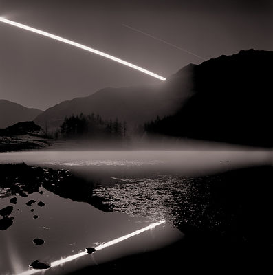 2 hours 30 minute moon set with mist - image 2 | Blea Tarn Little Langdale Cumbria | 2017
