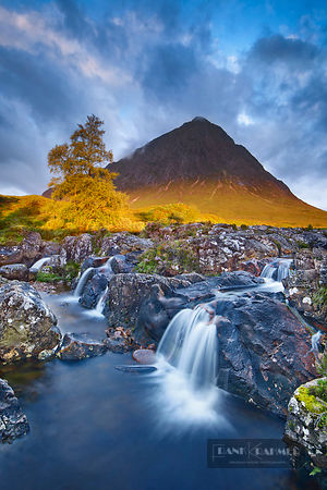 Mountain landscape at Buachaille Etive Mor - Europe, United Kingdom, Scotland, Argyll and Bute, Glen Etive (Highlands, Northw...