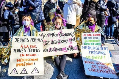 FRANCE : PARIS RASSEMBLEMENT FEMINISTE ET FESTIF - FEMINIST AND FESTIVE GATHERING