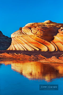 Erosion landscape in Vermillion Cliffs - North America, USA, Arizona, Coconino, Vermillion Cliffs, Coyote Buttes North, Wave ...