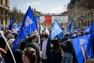FRANCE - POLICE PERSONNEL PROTEST AGAINST VERDICT FOR VIRY-CHATILLON ATTACK