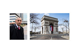 "Paris, France, March 18, 2020. Alain, head of security at Bichat Hospital: ""I am in charge of managing the hospital entrances..."