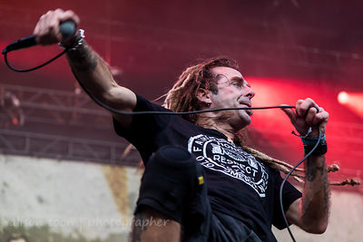 Randy Blythe, vocals, Lamb Of God