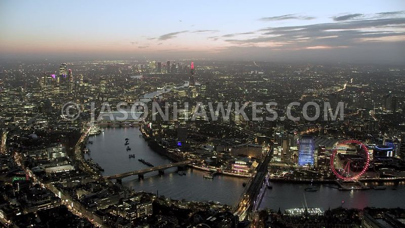 5K aerial helicopter footage of London .