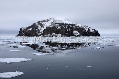 Rock islet in the Weddell Sea at approx Latitude S63°31', Longitude W56°18', Antarctic Peninsula,  Antarctica