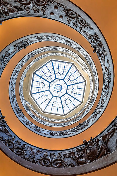Bramante stairs ceiling, Vatican