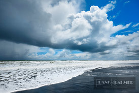 Ocean impression with clouds - Oceania, New Zealand, North Island, Waikato, Waitomo, Awakino (Polynesia) - digital