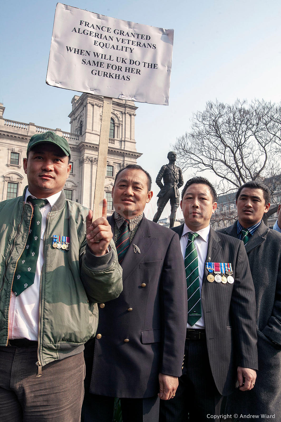 England, UK 28.3.2007. London. Gurkha rally  demanding a right to settlement in the UK for all Gurkhas, equal pensions for al...