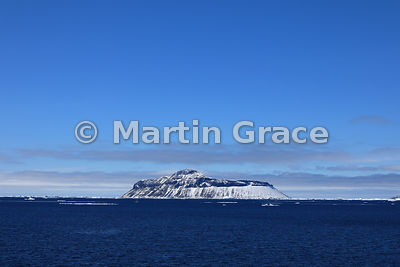 Submarine-shaped island from Latitude: S64°14', Longitude: W57°04' off Snow Hill Island, Antarctic Peninsula,  Antarctica