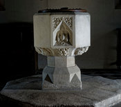 Font at Tubney Church