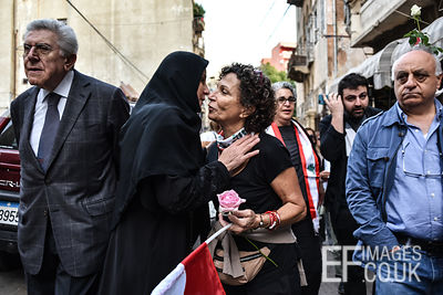 Amidst growing sectarian tensions in protest ridden Lebanon, mothers from the shia muslim neighburhood of Khandaq in Beirut c...