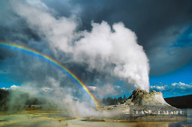 Geyser Castle Geyser - North America, USA, Wyoming, Park, Yellowstone National Park, Upper Geyser Basin, Castle Geyser (Rocky...