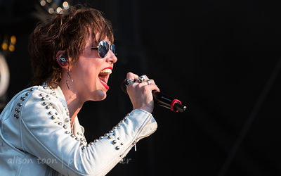 Lzzy Hale, vocals and guitar, Halestorm
