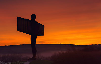 The Angel of the North at Sunset