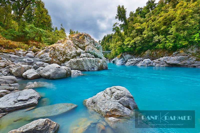 River landscape  - Oceania, New Zealand, South Island, West Coast, Westland, Hokitika, Hokitika Gorge (Polynesia) - digital