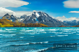 Mountain impression Torres del Paine and Lago Sarmiento - South America, Chile, Magallanes, Torres del Paine, Lago Pehoe (Pat...