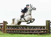 Wizz Leyland jumping a fence at Stone Lodge. The Cottesmore Hunt at Vickers Farm 12/3