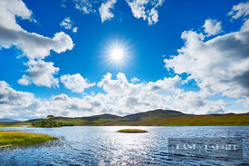 Moorland  - Europe, United Kingdom, Scotland, Sutherland, Loch Awe (Highlands, Northwest Highlands) - digital