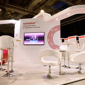 SECC, Glasgow.25.2.14.The Astellas stand in Hall 2 of the Scottish Exhibition and Conference Centre,...Picture Copyright:.Iai...