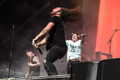 SACRAMENTO, CA, USA, 11 October 2019: I Prevail, performing on the first day of Aftershock Festival 2019, Discovery Park, Sac...