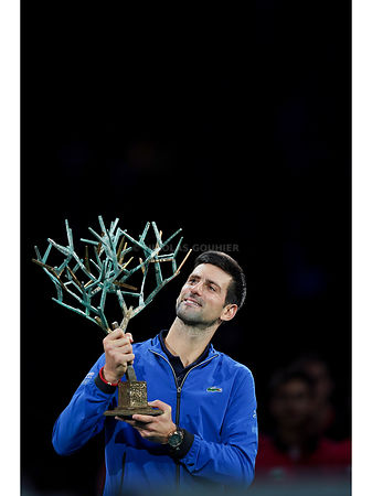 Novak Djokovic, Rolex Paris Masters 2019, Simple Messieurs, Remise de Prix, Photo : Nicolas Gouhier / FFT