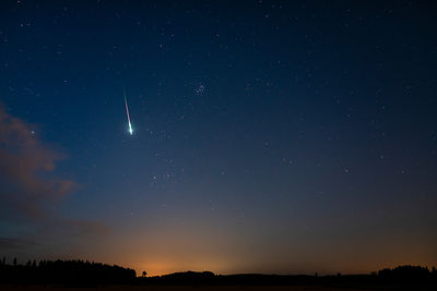 A brigth Perseid meteor above Southern Finland on Aug 14 2019 02.20.