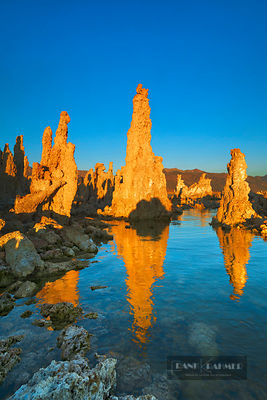 Tufa formations at Mono Lake - North America, USA, California, Mono, Mono Lake, South Tufa State Reserve (Sierra Nevada) - di...