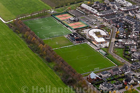 Luchtfoto Cothen Sportvereniging Fortissimo